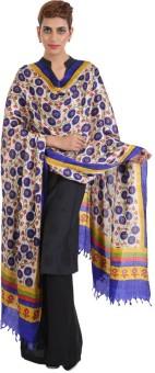 Narangi Silk Cotton Blend Floral Print Women's Dupatta - DUPEA8WRG2U9TQJM