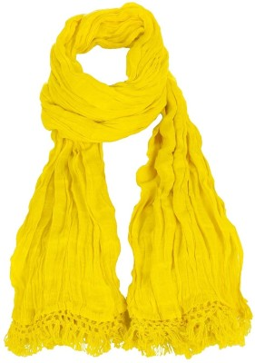 Estyle Estyle Cotton Solid Women's Dupatta (Yellow)