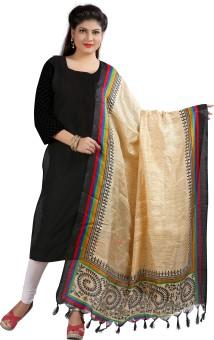 Archishmathi Art Silk Floral Print Women's Dupatta - DUPEJSGAF2VZHRTJ