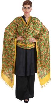 Narangi Silk Cotton Blend Floral Print Women's Dupatta - DUPEA8WR69XMJTZT