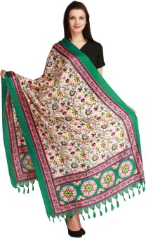 Aksara Art Silk Floral Print Women's Dupatta - DUPEGX4B8FJTZWYR