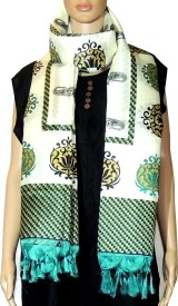 Indian Fashion Guru Raw Silk Printed Women's Dupatta