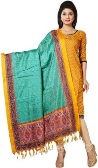 Paroma Art Art Silk Floral Print Women's Dupatta - DUPEM4WM95FEHXPQ
