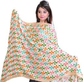Exotic India Pure Chiffon Embroidered Women's Dupatta