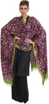 Narangi Silk Cotton Blend Floral Print Women's Dupatta - DUPEA8WR5YSQPZGE