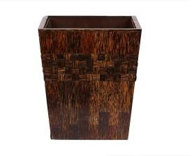 OPULENT HOMES Handicraft Wooden Dustbin