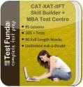 Test Funda Complete Test Prep CAT - XAT - IIFT Skill Builder + MBA Test Centre Online Test - Voucher