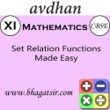 Avdhan CBSE - Mathematics Set Relation Functions Made Easy (Class 11) School Course Material - Voucher