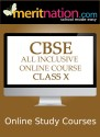 Meritnation CBSE - All Inclusive Online Course (Class 10) School Course Material - Voucher