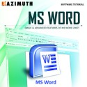 Azimuth Software Tutorial : MS Word (Basic & Advanced Features Of MS Word 2007) Online Course - Voucher