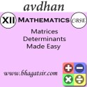 Avdhan CBSE - Mathematics Matrices Determinants Made Easy (Class 12) School Course Material - Voucher