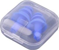 Jainco 5 Pair Reusable Ear Plugs With Case Ear Plug (Blue)