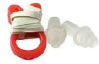 Surya Enterprises Swimming Nose & Ear Plug (Red, White & Black) Ear Plug & Nose Clip (Red, White, Black)