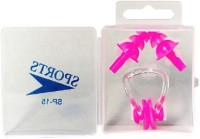 Vinto Pink Soft Silicone Swimming Ear Plug & Nose Clip (Pink)