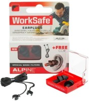 Alpine WorkSafe Ear Plug (Black, Red)