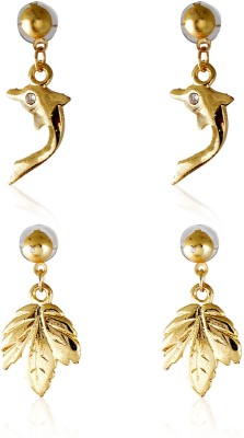 Crunchy-Fashion-Maple-Dolphin-Adorbs-Alloy-Earring-Set