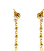ZKD Jewels Detachable Superstar 22 K Gold Drop Earring