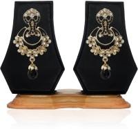 ZAVERI PEARLS Cluster Enamelled Zinc Drop Earring