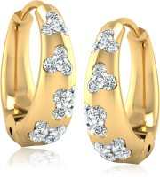 Forevercarat Flame 14K Yellow Gold Diamond Silver Clip-on Earring