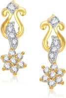VK Jewels Shine Stars 18K Yellow Gold Plated Cubic Zirconia Alloy Drop Earring