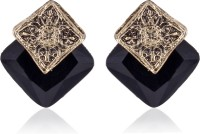 Cinderella Collection By Shining Diva Stunning Black Stone Alloy Stud Earring