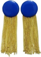 Bling-Bling Blue Hanging Party Alloy Chandelier Earring