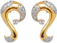 Jaipur Mart S Shape Beautiful Ad Fashion For College Girls Yellow Gold Plated Brass Drop Earring