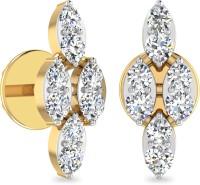 WearYourShine By PCJ The Romina 18 K Diamond Gold Stud Earring