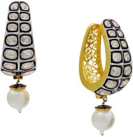 Pearls Cart Ad Stone Studded Peacock Theme Style Alloy Drop Earring - ERGEDKRQR9E575PK