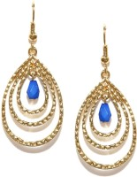 Toniq Blue Metal Dangle Earring