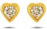 P.N.Gadgil Jewellers Tiny Hearts 18 K Diamond Gold Stud Earring