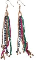 Chumbak Beaded Up Earring Beads Metal Drop Earring