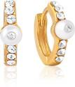 Mahi Glimmer Glam Alloy, Brass Hoop Earring