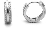 f9fc106f0 34% OFF on Jewel Craft BL02 Rhodium Plated Cubic Zirconia Silver Hoop  Earring