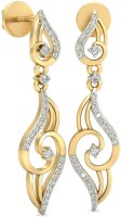 WearYourShine By PCJ The Jehanne Diamond 18 K Diamond Gold Drop Earring
