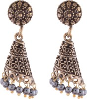 Ganapathy Gems Oxodised Brass Plated Alloy Jhumki Earring