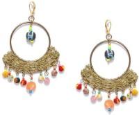 Blissdrizzle Gold-Toned Metal Dangle Earring