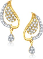 VK Jewels Peacock Design 18K Yellow Gold Plated Cubic Zirconia Alloy Drop Earring