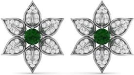 Kataria Jewellers Floral 92.5 BIS Hallmarked Silver Stud Earring