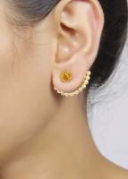 Muchmore Polki Cuff Earring Crystal, Pearl Alloy Cuff Earring