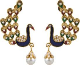 INAYA Designer Brass Chandelier Earring