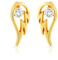 Mahi 24K Yellow Gold Crystal Brass, Alloy Stud Earring