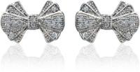 Dhruvi Creation By Zaveri Pearls Designer Bow Brass Stud Earring