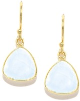 Mast & Harbour 22K Gold-Plated Crystal Metal Dangle Earring