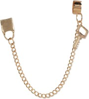 Fayon Gold Lock With Key Alloy Cuff Earring