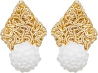 Inaya Designer Yellow Gold Brass Stud Earring