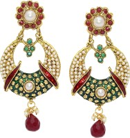 Aarnaa Rubi Drop Traditional Earing Alloy Drop Earring