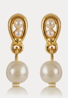 Estelle 310/715 ER SMP BG WHITE PEARL Alloy Drop Earring