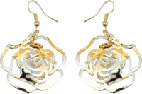 Trinetra Gold Plated Flower Hanging Alloy Dangle Earring