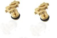 VaishnavI First Quality Korean Made Non-Allergic 22KT Gold Coated Dragon Design Ear 316L Stainless Steel Stud Earring